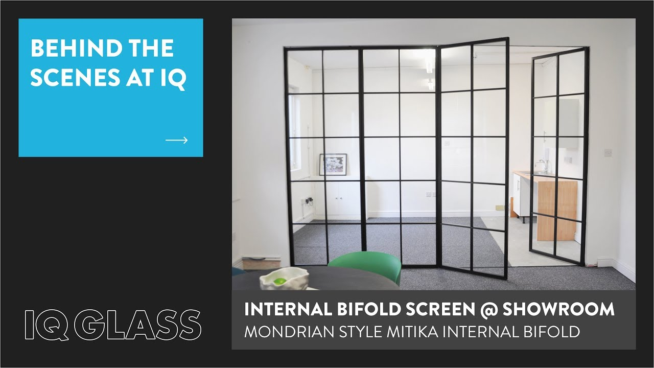 Mondrian Style Mitika Bifold Door at IQ Glass Showroom - YouTube