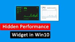 How to Enable Windows 10 Performance Monitor Widget screenshot 5