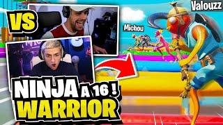 Notre premier Ninja Warrior à 16 avec Michou sur Fortnite Créatif !
