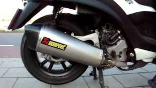 First Akrapovic Exhaust for the Piaggio MP3 in The Netherlands