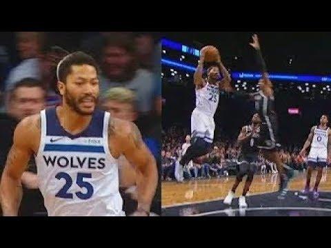 38e663f8f4b Derrick Rose Turns Into MVP ALLSTAR   DESTROYS The Nets! - YouTube