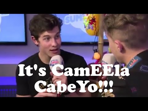 Shawn Mendes correcting interviewers how to say Camila Cabello's name!