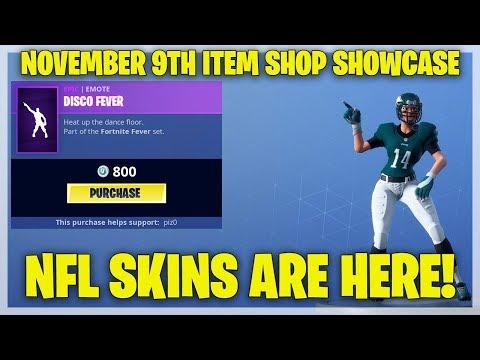 Fortnite Item Shop NFL SKINS ARE HERE! [November 9th, 2018] (Fortnite Battle Royale)