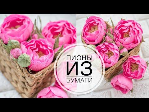 видео: Пион из бумаги / diy tsvoric crepe paper