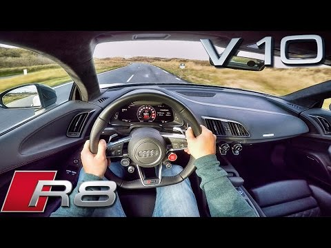 Audi R8 V10 PLUS POV Test Drive 610 HP 5.2 FSi