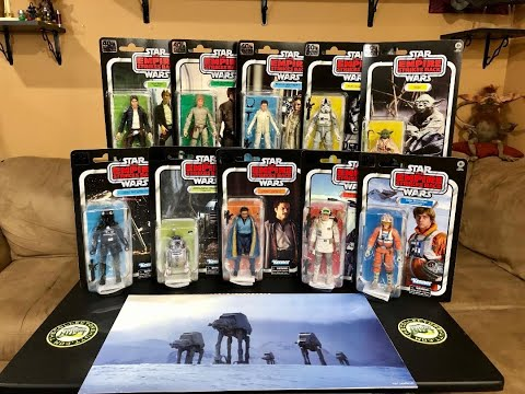 Star Wars 40th Anniversary TESB Wave 1 & 2 The Black Series 6 Inch Action Figures (Hasbro Promo Box)