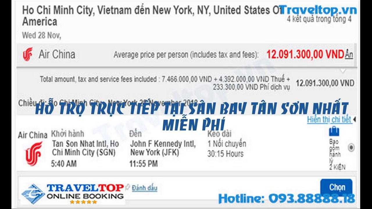 Traveltop bán vé máy bay đi Mỹ giá rẻ - YouTube