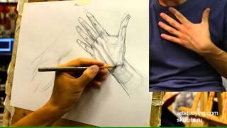 Руки, короткий, конструктив. Обучение рисунку.Фигура. 59 серия.