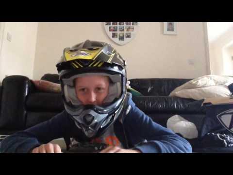 Motocross helmet unboxing