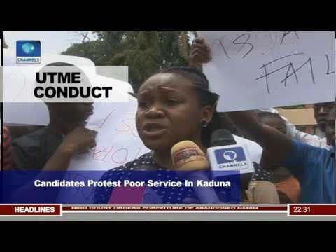 UTME Candidates Protest Poor Service In Kaduna