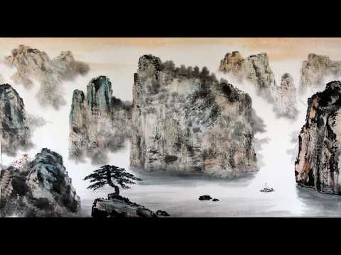 Flowing Water Guqin Set To Shan Shui