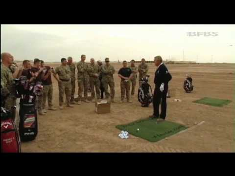 Golf legend visits Afghanistan 25.11.11