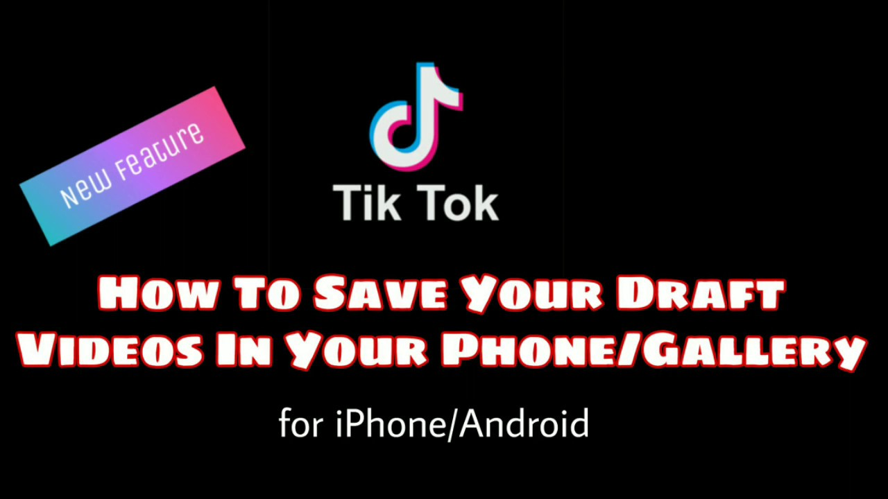How To Save Musically/Tiktok Drafts Videos in Private/Camera Roll/Gallery  for iPhone/Android