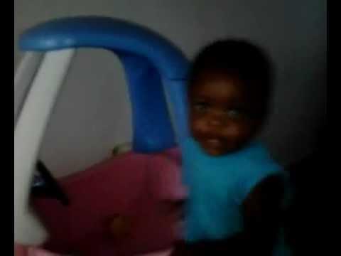 Me And My Son Daniel LAmar Haynes Jr Clowing A round His New Car 2012