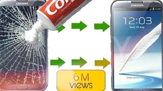 how to clean your fone screen with colgate
