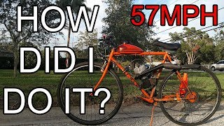 How I Got my Bike to Hit 57mph