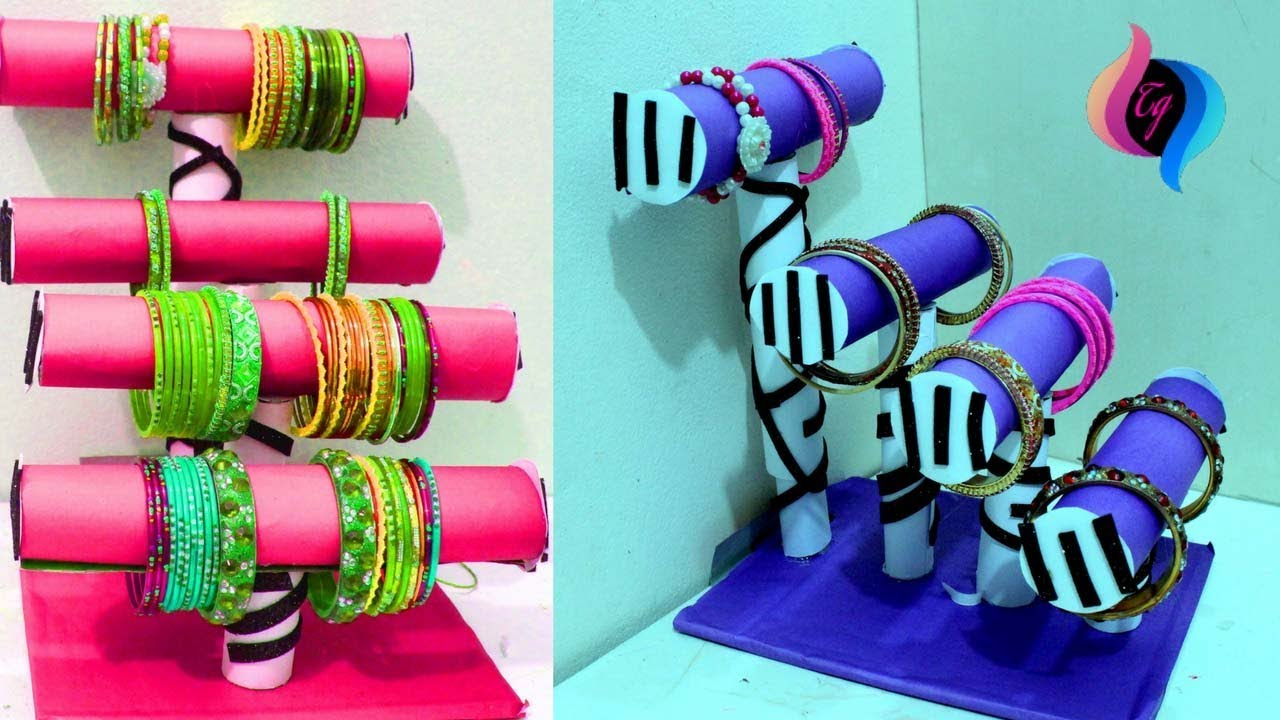 How to make a homemade bangle stand bangle stand ideas for Waste out of best from bangles