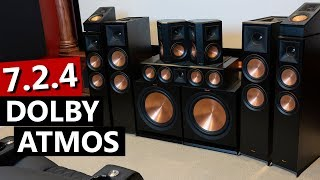 Home Theater Dolby Atmos 7 2 4 Setup Klipsch Reference Premiere Youtube