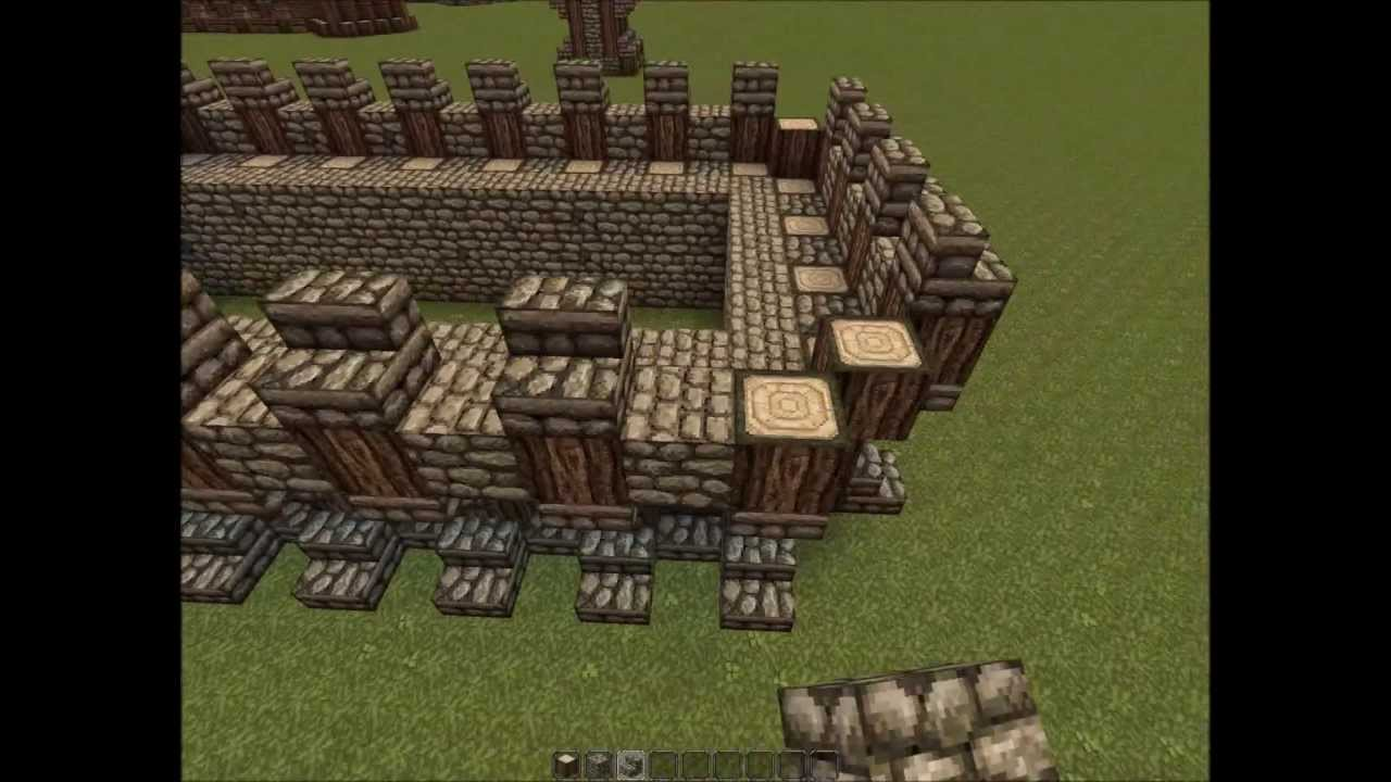 Castle Hall | Medieval Keep | Minecraft Tutorial - YouTube