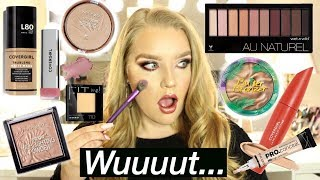 FULL FACE OF DRUGSTORE MAKEUP   Brianna Jean