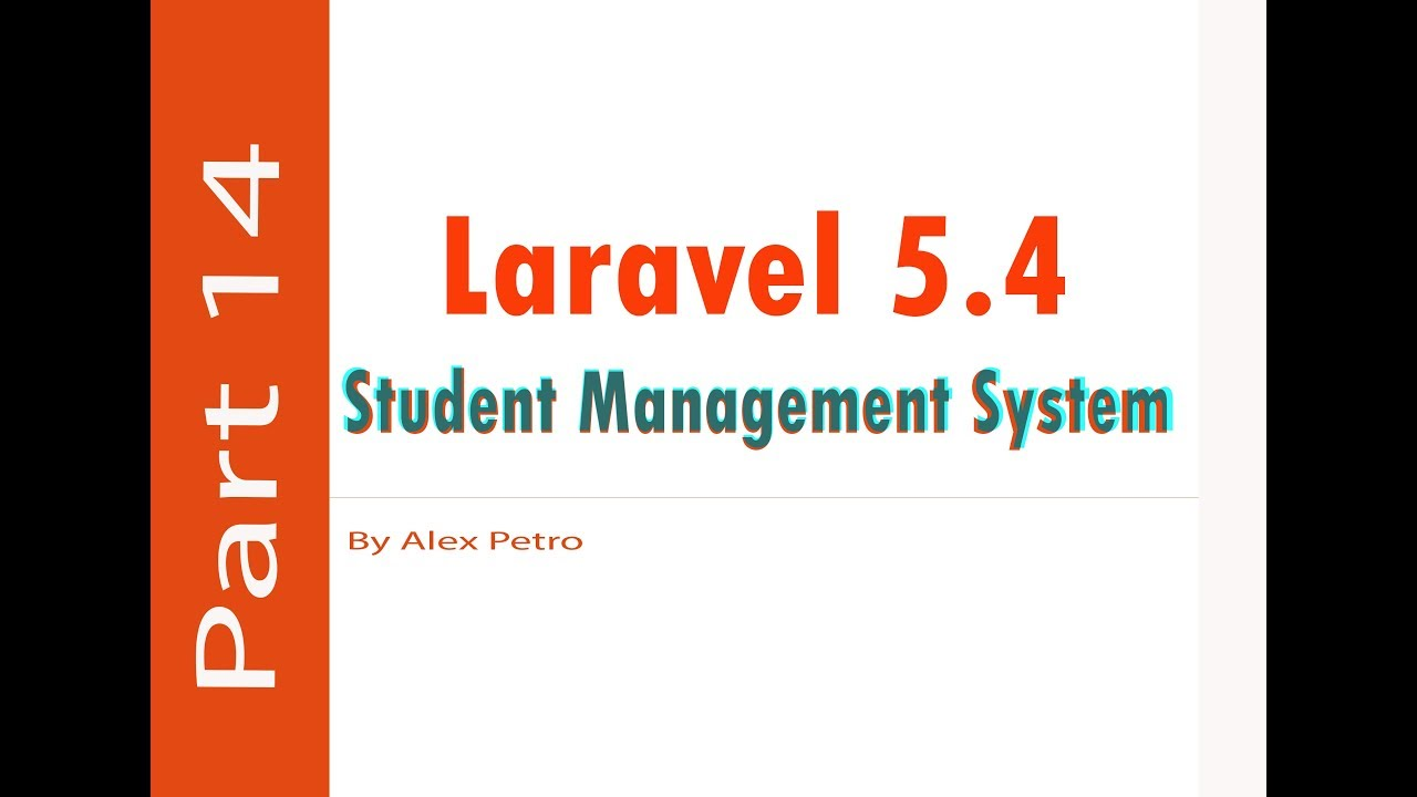 Laravel 5 4 Student Management System - merge cell table part 14 - admin  panel laravel part 14