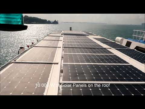 Discover the FIRST SOLAR/DIESEL HYBRID commercial ferry in Singapore!