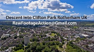 Phantom 4 Aerial Descent From Above Clifton Park Rotherham UK