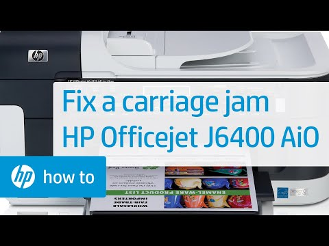 Fixing A Carriage Jam Hp Officejet J6400 All In One