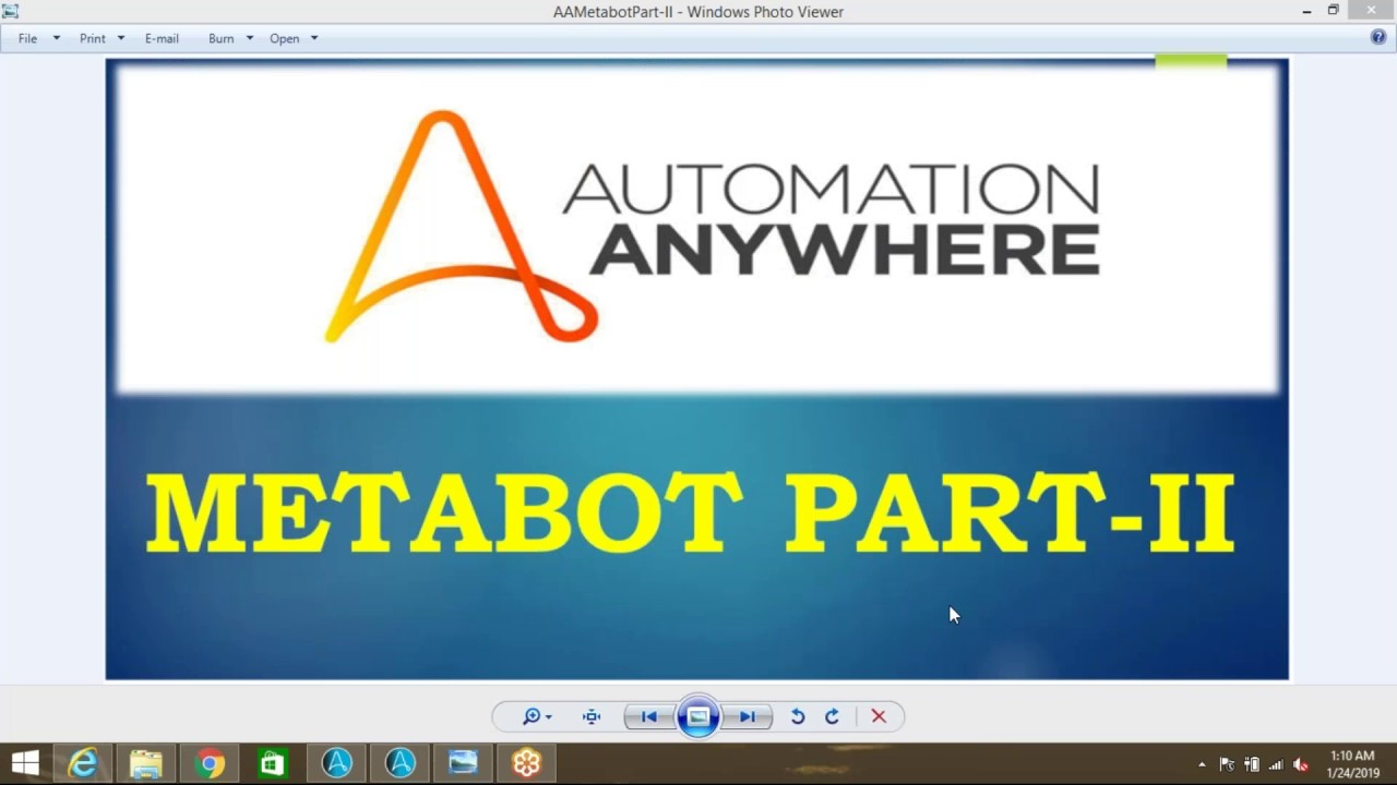 MetaBots Automation Anywhere 10 7 Part II Robotics Process Automation