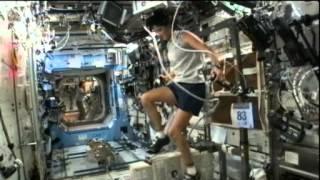 Astronaut Runs Triathlon In Space | Video