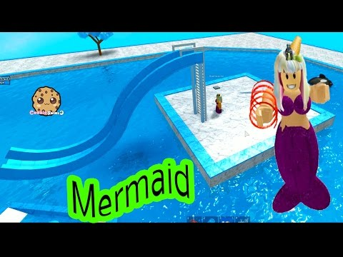 Thumbnail: Baby Mermaid Pool + I'm A Pirate - Cookieswirlc Let's Play Roblox Online Game Play