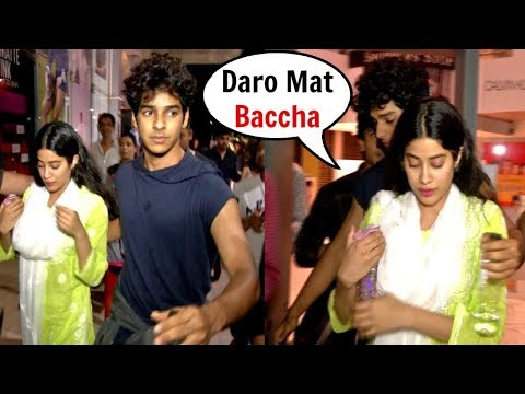 SCARED Jhanvi Kapoor Protected By Bf Ishaan Khattar From Fan Trying To Get Close To Her Mp3
