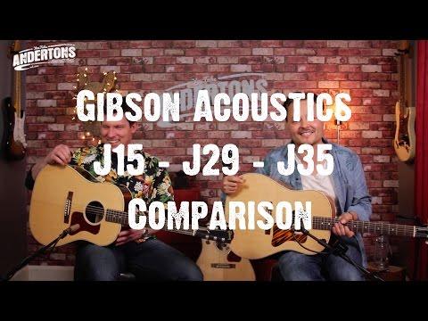 Acoustic Paradiso - Gibson J15, J29 & J35 Comparison