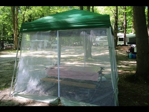 Quest 10x10 Canopy with Optional Mesh Screen Enclosure. & Quest 10x10 Canopy with Optional Mesh Screen Enclosure. - YouTube