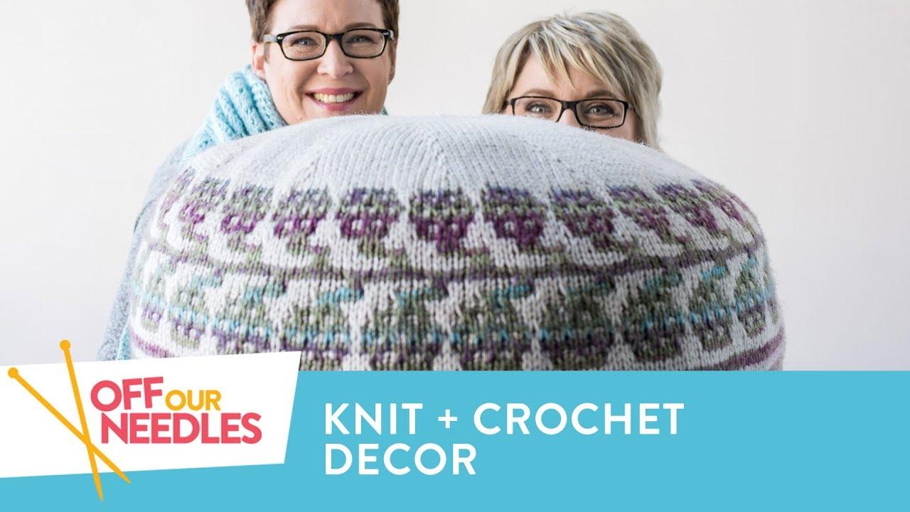Knit And Crochet HOME DECOR Ideas Baskets Poufs Afghans