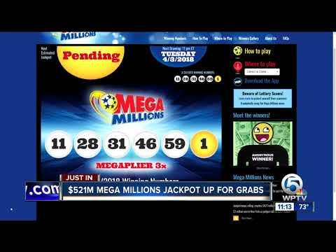 $521 million Mega Millions jackpot winning numbers drawn