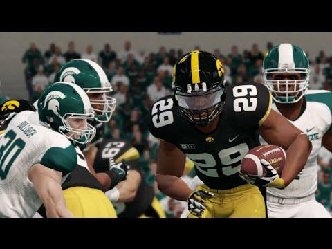 Big 10 Championship Game Sim: Iowa vs Michigan St. (NCAA ...