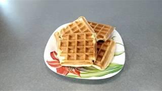 Рецепт Йогуртовые вафли - видео-рецепт быстрого завтрака, мультипекарь, вафельница