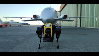 HyQReal robot release: Walking robot pulls a plane (extended v…