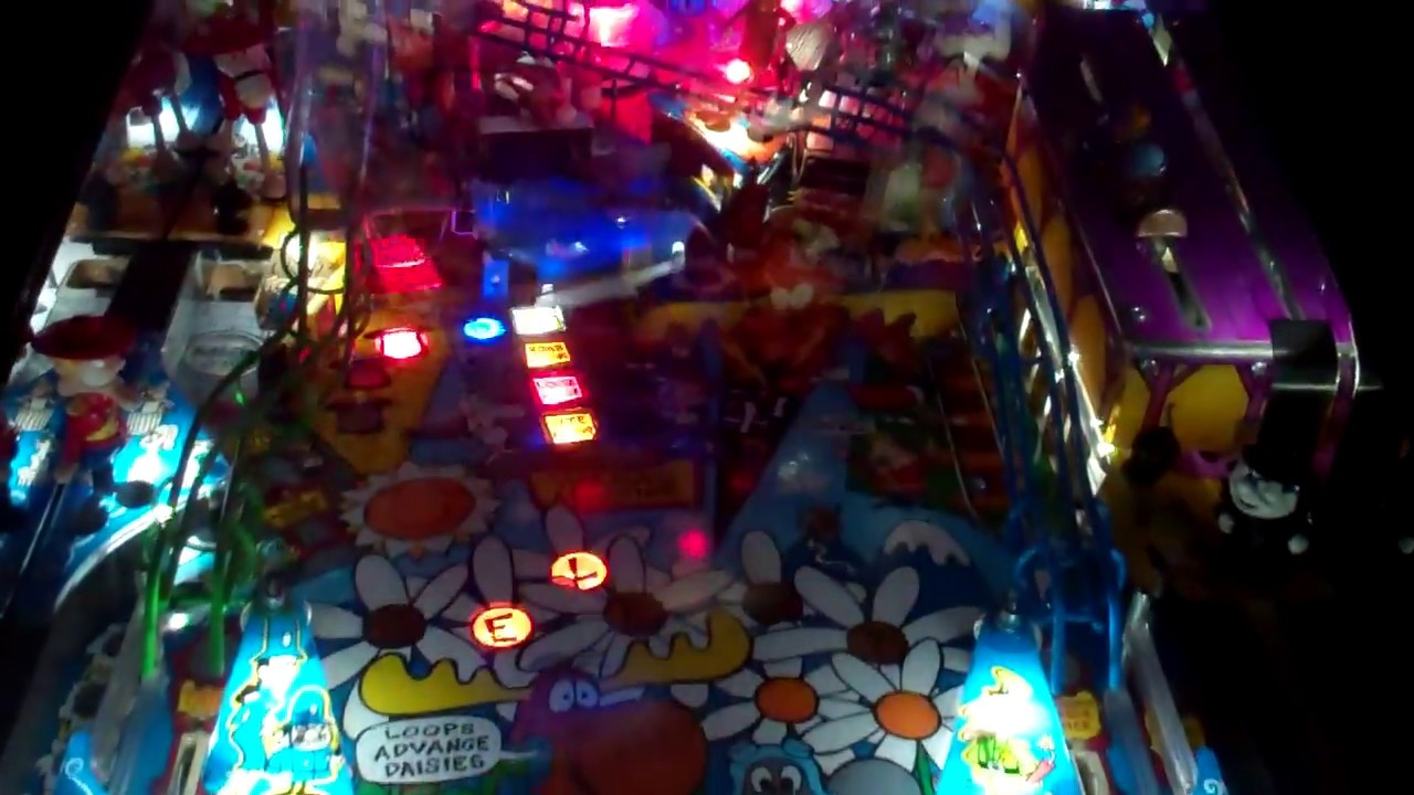 Rocky and Bullwinkle Pinball with LED lighting!