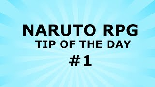 ROBLOX Naruto RPG - Tip Of The Day - How to charge chakra while running!