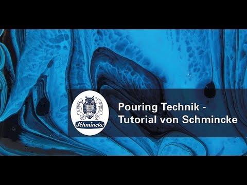 Pouring Technik - Tutorial von Schmincke