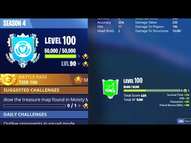 How To Level Up Fast In Fortnite How To Reach Season Level 100 The
