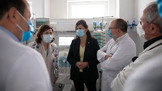 Visita a la nueva Área Polivalente de Críticos en el Hospital San Pedro de Logroño