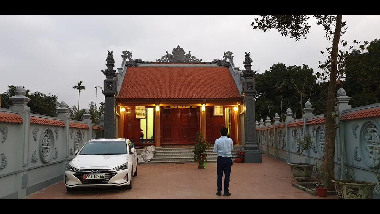 Mẫu Từ Đường Kèm Nhà Ngang 300m2 Đẹp Tại Văn Lâm Hưng Yên