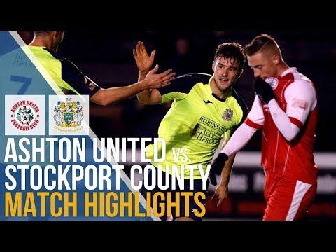Ashton United Vs Stockport County - Match Highlights - 18.12.2018