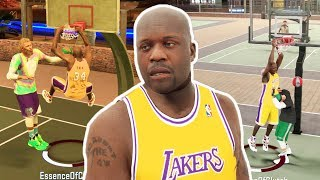 SHAQ CONTACT DUNKS!? DOMINANT BIG MAN AT THE PARK! NBA 2K17 Video