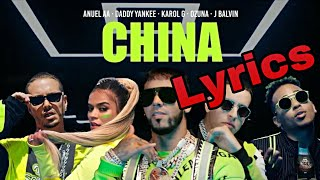 China Anuel AA, Karol G, J. Balvin, Daddy Yankee, Ozuna Lyrics Letra.mp3