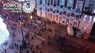 Drones de Policía Municipal revelan que se cumple la distancia social en el centro de Madrid