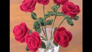 Beautiful Crochet Flower Pot Designs - Bulk Group of Different FLowers Ideas